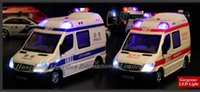 ambulance lights - Scale Diecast Alloy Ambulance Car Model For TheBenz Sprinter Collection RV Model Pull Back Toys Car With Sound amp Light