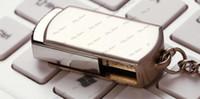 Wholesale Hot GB GB GB GB Swivel metal Key Chain Generic USB Flash Memory Pen Drives Stick Disks Pendrives custom logo Service