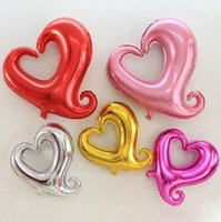 aluminum coat hooks - 200PCS inch hook cute Heart Helium Aluminum Foil Balloon christmas wedding birthday Holidays Party Supply Decoration Supplies