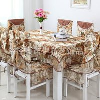 Wholesale Continental Illinois sets new table cloth tablecloth dining chair cushion chair Set color flower optional