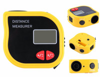 Wholesale New Infrared Ultrasonic Distance Meter Rangefinder feet m Laser Pointer Digital Range Finder Measurer Area Volume tool