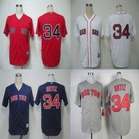 Wholesale Men s Baseball David Ortiz Jersey Boston Red Sox Jersey Embroidery Logo Sports Sportswear Baseball Jerseys Size M XXXL