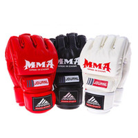Wholesale Brand MMA Boxing Gloves Top Quality PU Leather MMA Half Fighting Boxing Gloves Competition Training Gloves Boxeo