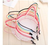 Wholesale 8 color New fashion women girl Lovely cat ear fine hair band hoop for lady hair accessory