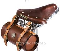 Wholesale Retro Bicycle Bag Basket City Tour Mountain Bike Bag Vintage Bag MTB Cycling Rear Seat Saddle Bag