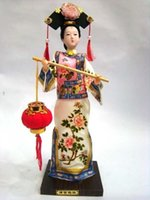 oriental statues - Oriental Broider Doll Chinese Old style figurine China doll statue