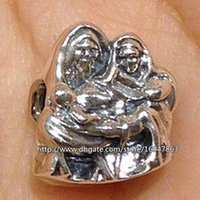 Wholesale 100 S925 Sterling Silver Holy Family Charm Bead Fits European Pandora Jewelry Bracelets Necklaces Pendant