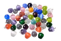 beads and charms - 2016 Jewelry Apple Cat eye gemstone mixed Pendants Loose Beads Fit Bracelets and Necklace Charms DIY Bead0163y