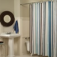 Wholesale New Stripe and Design Bathroom Fabric Shower Curtain