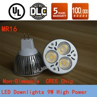 led m16 - Super Bright M16 Led W Downlights Bulb Lights Non Dimmable Led Spot Light Warm Pure Cool White Lamp V V CE RoHS UL