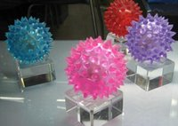 Wholesale 24pcs Make sound rubber color changing light up bouncy ball led flashing toy led flashing puffer ball Massage ball