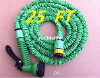 Wholesale Hot sale FT expandable water hose expandable green connector hose and green spray gun