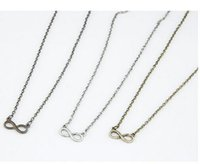 Wholesale 2015 hot Silver Shining Pave Crystal Infinity Symbol Pendant Necklace