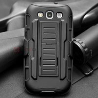 advanced armor - Black Advanced Armor High Impact Hard Hybrid Case Cover Stand Holster Robot Combo Case for Samsung Galaxy S3 S III I9300 Galaxy S3