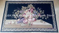 Wholesale Woolen Aubusson Tapestry Home decoration carpet hand Woven fruits design tapestry