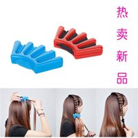 Wholesale New Hair Braider Braid Stylist Sponge Plait Hair Twist Styling Braiding Tool Hot DIY Sponge Holder Clip Hair Wonder Hair Braider Fast Ship
