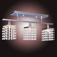 Wholesale Crystal Chandelier with G9 Lights Lamp home decoration Lighting Linear Design order lt no track
