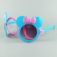 al por mayor fresco gafas de sol de marco niños-La nueva manera de Mickey de los niños gafas de sol frescas cubierta de plástico del marco niños Gafas de sol UV400 de la mezcla de 6 colores 20pcs / envío libre de la porción