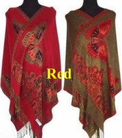 Wholesale In Stock New Arrival Hot Sale Butterfly Double Sides Pashmina Silk Pashmina Silk inches Red Shawl Scarf Wrap