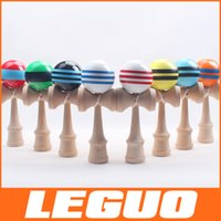 kendama - 15 Colors inch inch Kendama Ball Japanese Traditional Wood Game Toy Education Gifts DHL Activity Gifts toys