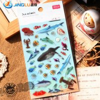 Wholesale South Korea Sent Straight Yeehyun Perspective Epoxy Sticker Marine Animals