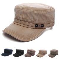 adjustable cadet hats - Hot Sale Summer Style Men Women Baseball Caps Cotton Vintage Army Peaked Hat Cadet Army Sun Cap Adjustable Outdoors Hats
