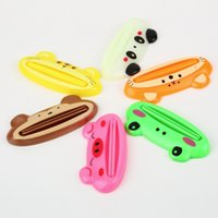 Wholesale 1pc Toothpaste Tube Squeezer Easy Squeeze Paste Cartoon Frog Animal Dispenser Roll Holder Worldwide FreeShipping