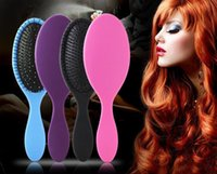 Wholesale Plastic Comb Europe and USA Hot Selling Soft Colorful Plastic Comb Massage Comb Along Hair Beauty Tools JF024