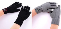 Wholesale 2016 Bluetooth Gloves Talking Gloves Touch Screen Gloves For Cell Phones Moblie Phones Hands Free Touch Function H001