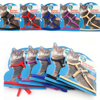 Wholesale Cat Harness Leash Set Nylon Lead Adjustable Freely Pet Supplies Kitten Safety