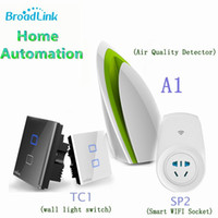 Wholesale 2015 Broadlink WIFI Switch SP2 Smart Air Detector A1 Wall Light Switch TC1 Remote Control Smart Home Automation IOS Android