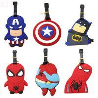 Wholesale 2015 The new hero alliance luggage tags Captain America batman Spider man superhero super hero series