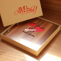 Wholesale 1509 diy wooden photo album handmade viscose photo album family baby couples photo album