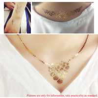Wholesale Necklace Choker Bracelet Henna Jewelry Inspired Flash Tattoos Sticker Fake Body Art Fashion Temporary Tattoo W524
