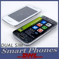 WCDMA the cheapest cell phone - DHL FREE The Cheapest Cell Phone Original M horse Android WCDMA G WIFI MP inch Unlocked Mini Smart Phones Dual SIM Card