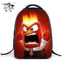 anime book bag - 2016 Fashion Children School Bags D Cartoon Inside Out Backpack Boy Girl Students Inside Out Schoolbag Book Bag Kids Mochilas