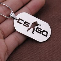 animation counter - 5pcs Game Counter Strike Friendship Stainless Steel Animation Necklaces Colar Masculino tag Pendant csgo necklace for man NK0203