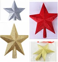 Wholesale 20cm Star Christmas Tree Toppers Christmas Decoration Xmas Tree Topper Star Tree Ornament Home Office Star Treetop Christmas Ornaments m0598
