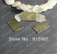 Wholesale 50pcs Fashion Jewelry Findings metal tags for jewelry Alloy Antique Bronze mm Stamps to hang letter charms A1630