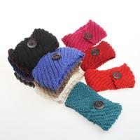 Wholesale Fashion Womens Adult Lady Crochet Winter Autumn Knit Headbands Warm Hoop Wide Plait Headbands ear warmer Wool Stretch Hair Bands D699M