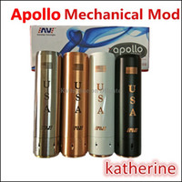 apollo red - Apollo Mechanical MOD E Cigarette MOD SS Black White Brass Red Copper Apollo Machanical Mod Clone USA Apollo Mods Fit Battery