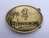 antique brass buckles - Browning belt buckle with antique brass finish SW S01 suitable for cm wideth belt with continous stock