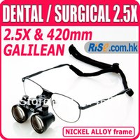 Cheap 2.5x Magnification Galilean Medical Dentistry Frame Surgical Dental Loupes