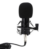 audio recording pc - New Arrival Sound Recording Microphone with mm Audio Cable Foam Cap Mic Shock Mount for PC Radio Broadcasting I773