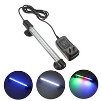 Wholesale New Super bright Compact RGB Aquarium Fish Tank LED Light AC Adapter Waterproof Bar Submersible Stick Strip Light Lamp order lt no tr