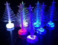 fiber optic tree - Christmas Decorations Flashing Christmas Tree LED flash bar party celebration props Christmas Led Fiber Optic Lantern Christmas Tree
