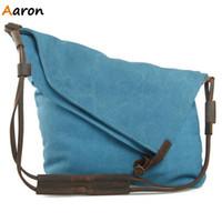 aaron school - Aaron Latest Vintage Canvas Leather Women Hobos Shoulder amp Crossbody Bag Fashion School Bag Girls Shoulder Messenger Books