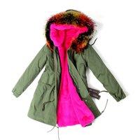 Wholesale Winter Jacket Women Coat Natural Real Raccoon Fur Collar Hooded Warm Down Jacket Parka Womens Winter Coats And Jackets