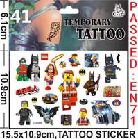 Wholesale LEGO Tattoos Stickers LEGO Temporary Tattoos LEGO Body Tattoos Kids Cartoon Tattoos size cmx10 cm H0201