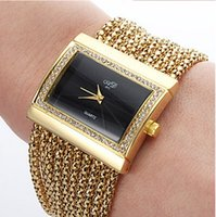 Wholesale Women Alloy Analog Quartz Bracelet Watch High Quality Golden black with Crystal Rhinestone watches women luxury brand relogio feminino gifts